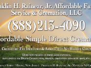 Affordable Funeral Service & Cremation , Franklin H Rainear Jr.LLC